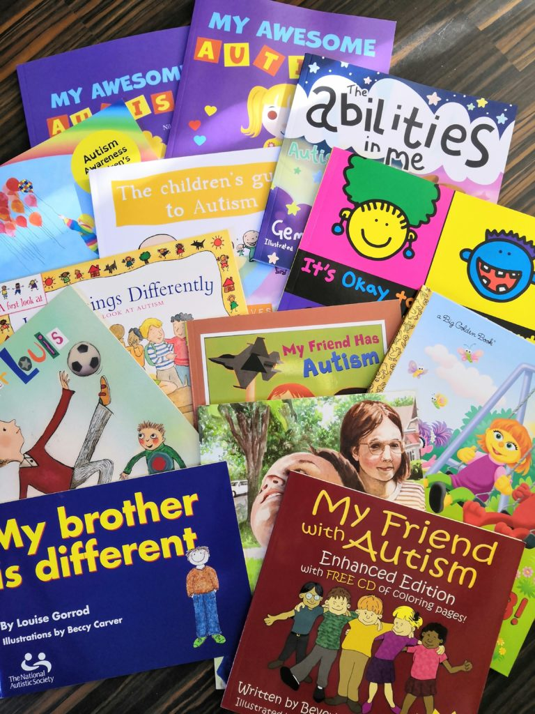 collection of books about autism